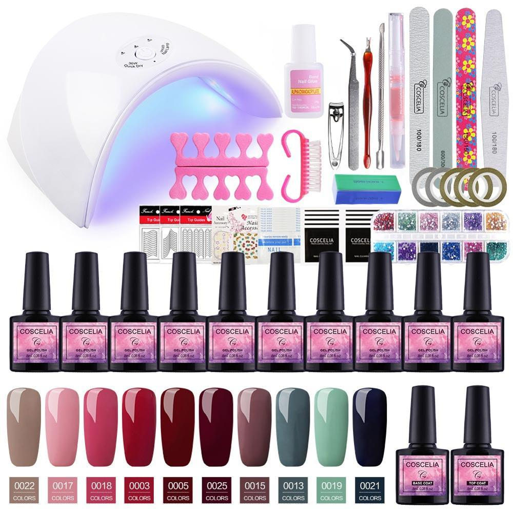 Manicure Set 36w Dryer Lamp For Nails Set For Gel Nail Polish