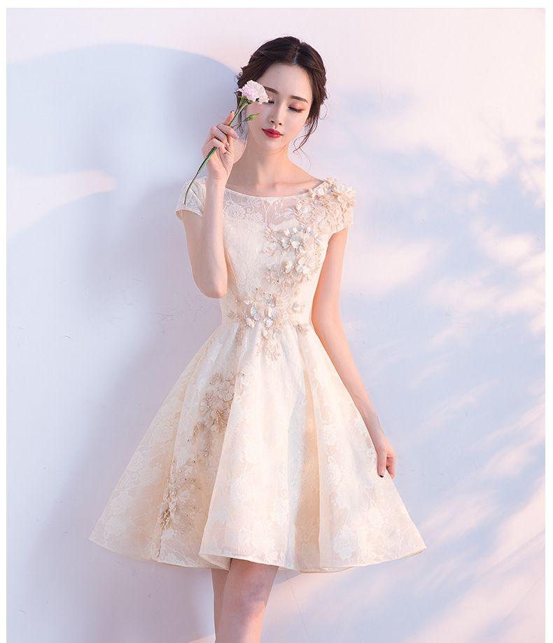 JY916 Short Prom Dresses 2019 O Neck Teens