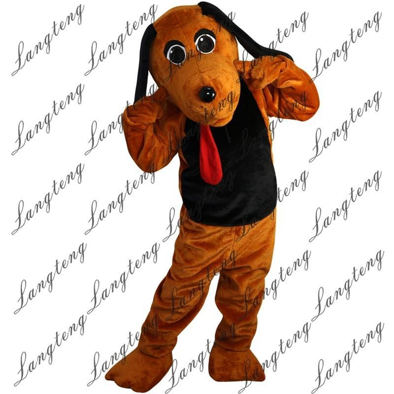 yetişkin sirk yılbaşı Cadılar Bayramı Kıyafet Fantezi Elbise Takım Elbise Ücretsiz Shipping003 için 2018 Yeni yüksek kalite Kahverengi köpek Maskot kostüm