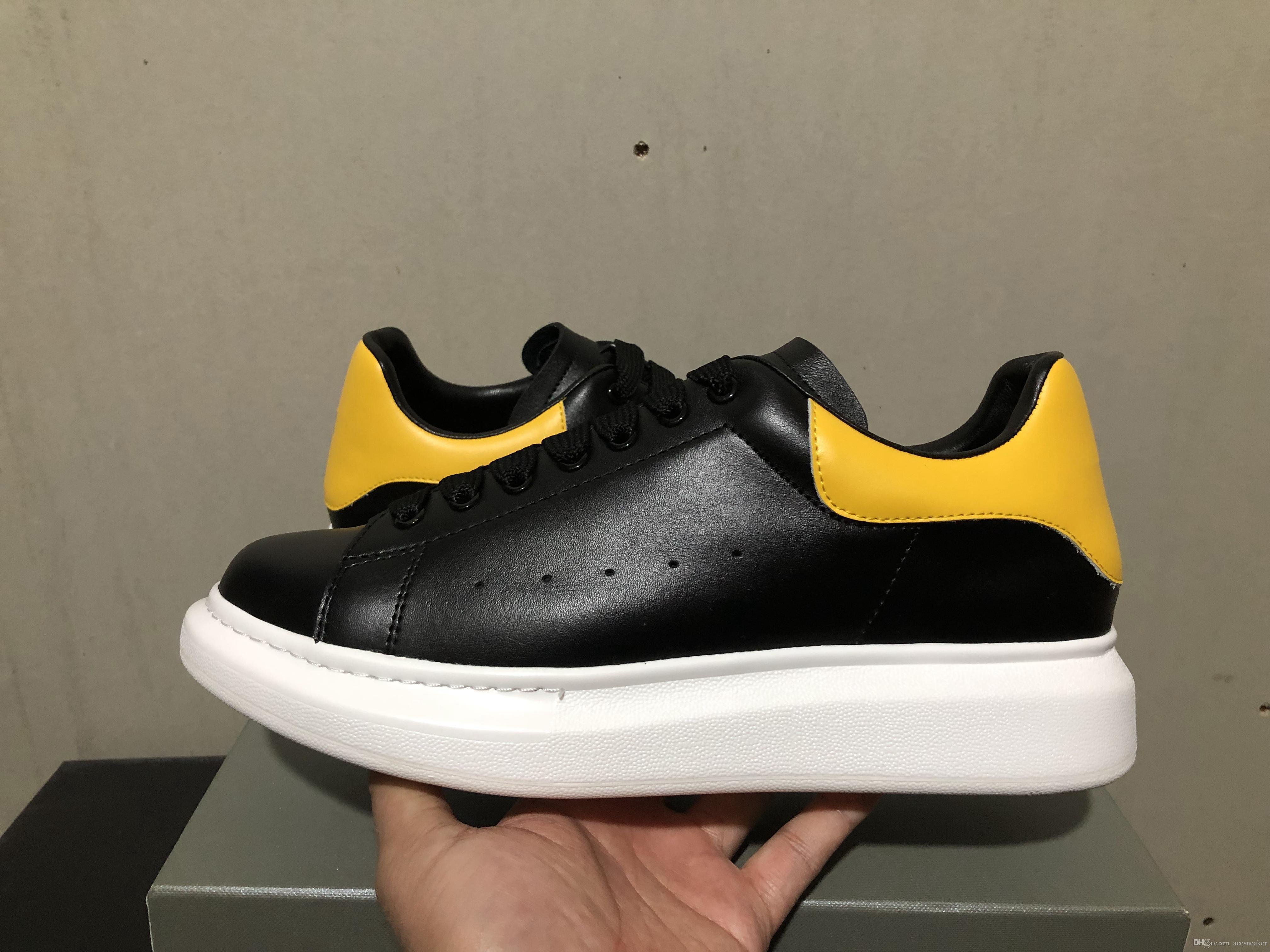 2019! 9COLOR Designer hombre mujer zapatos de calidad superior de cuero real zapatillas cómodas zapatos con tamaño de caja 34-46