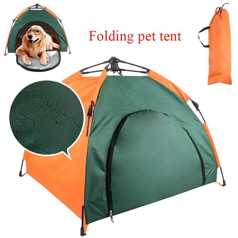 Tente pliante Pet Portable Maison Up extérieur Tente Camping Waterproof confortable Plage Randonnée Animaux Voyage Camping