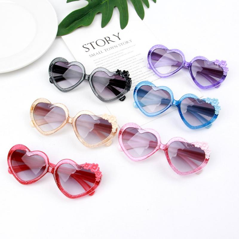 Heart Sunglasses Shades Kids Childrens Toddlers Girls 100/% UV400 Protection 65