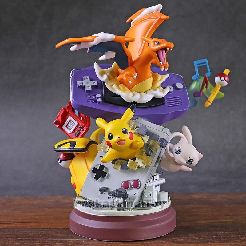 컬렉션 크리스마스 모델 선물 T200106에 대한 애니메이션 몬스터 뮤 리자몽 수지 동상 그림 액션 장난감