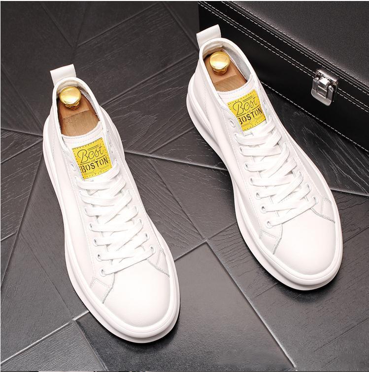 Classique Hommes Sneaker en cuir de veau toile technique avec des lacets fixes pour glissement sur l'usure Formateurs Flat Designer Chaussures Casual