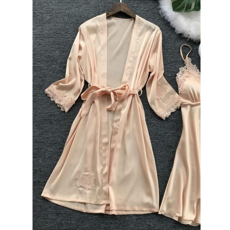 섹시한 란제리 여성 레이스 가운 드레스 베이비 돌 잠옷 잠옷 기모노