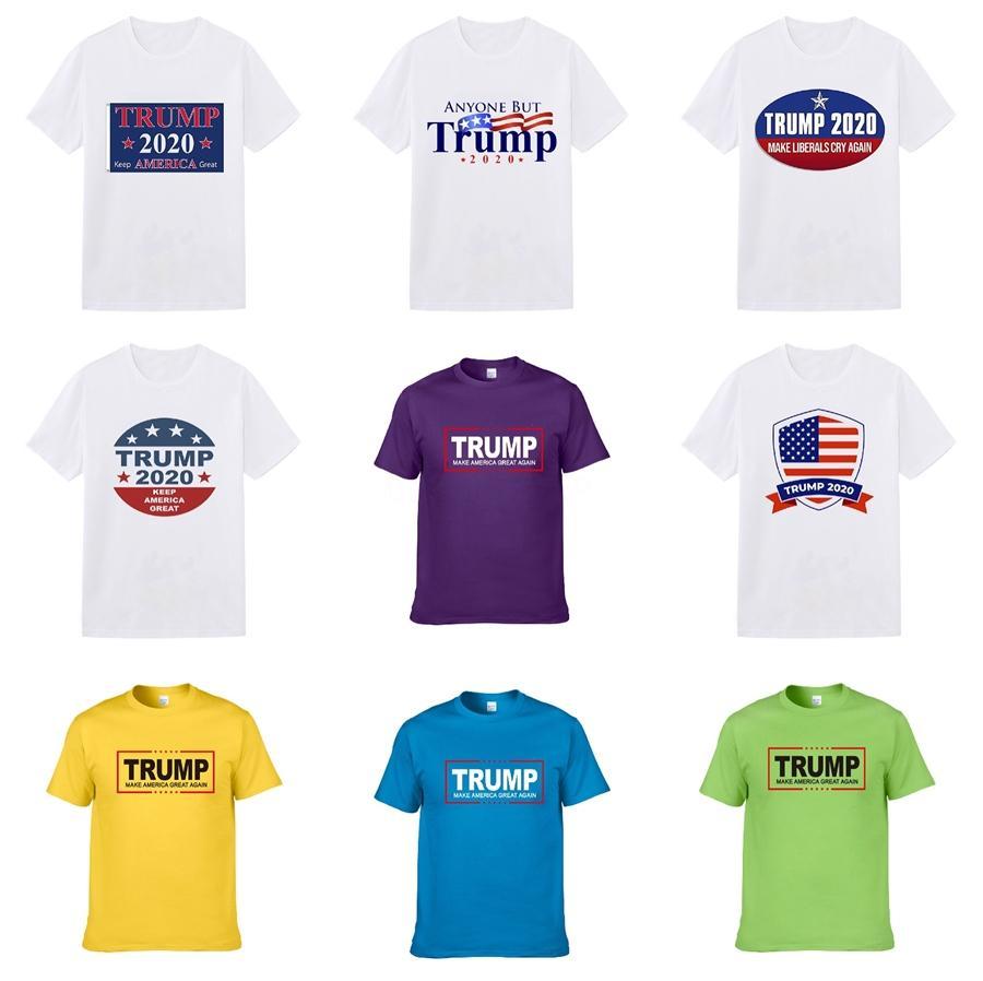 2020 Print Männer Trump T-Shirt Mode Medusa-T-Shirts Sommer-Kurzschluss-Hülsen-beiläufige Oberseiten der Männer Designer Trump T-Shirts # 3608 # 617