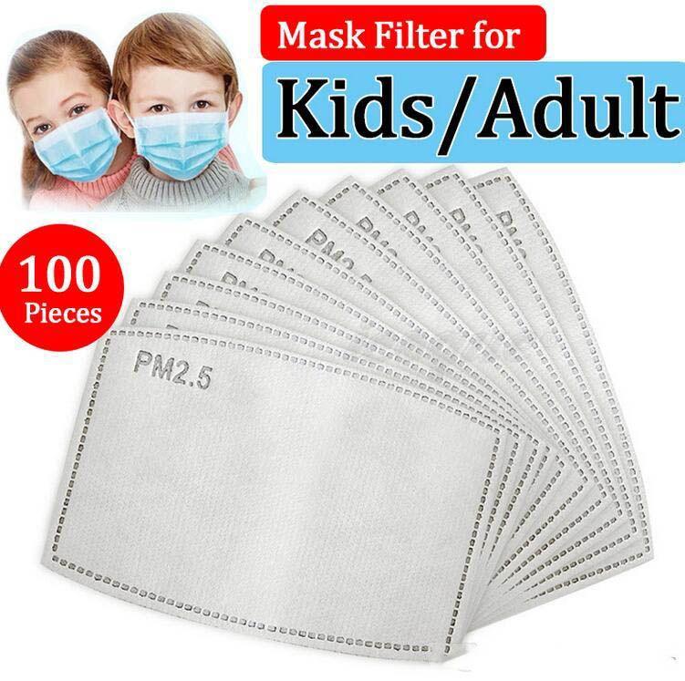 PM2.5 Filter für Mask Anti Haze Mundmaske austauschbaren Filter-slice 5 Schichten Non-Woven-Aktivkohle-Filter-Gesichtsmasken Gasket FY9039