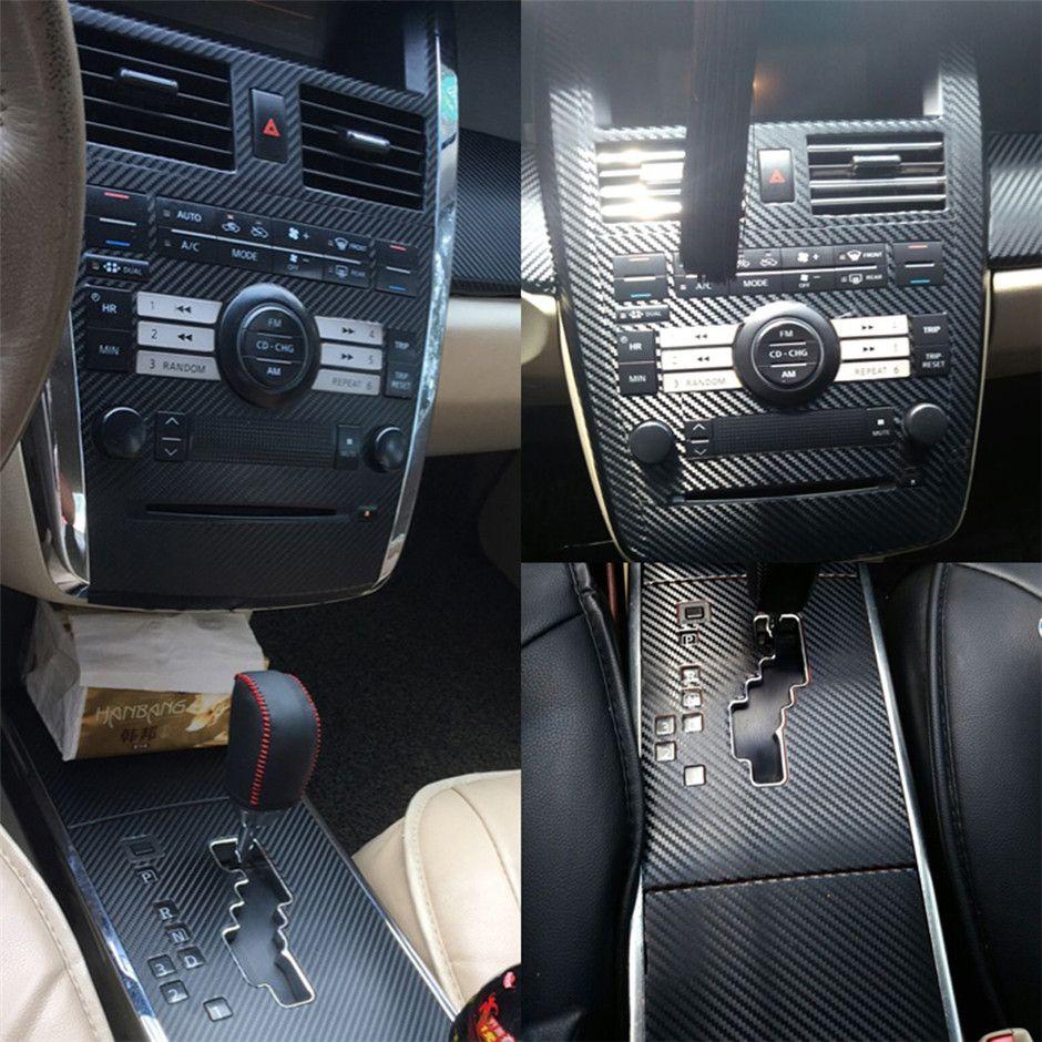 Per adesivi in fibra di carbonio Nissan Teana J31 autoadesivo autoadesivi dell'automobile 3D 5D vinile auto e decalcomanie Accessori auto Styling