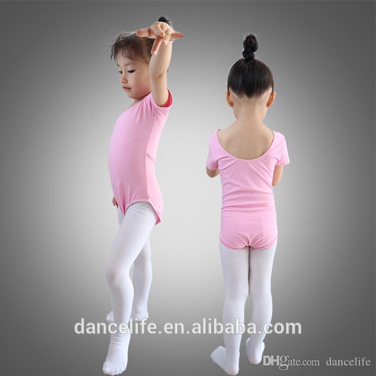 Descuento niño manga corta leotardo c2015 rosa leotards al por mayor niñas baile ropa ballet dance ropa bailando ropa de baile Balletwear