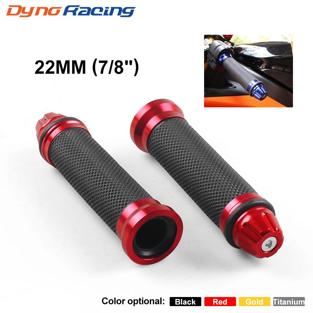 "7/8"" 22mm Universal Handle Bar Hand Grips Fit For Honda/Suzuki / Yamaha / Kawasaki Motorcycle 2Pcs/Set"