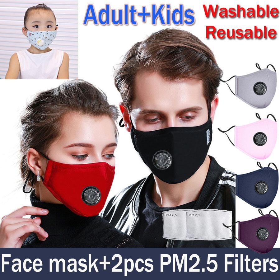 Wiederverwendbare Gesichts maske Anti-Staub- und Grippe waschbare Atemschutzmaske KN95 N95 Masken mit 2 Kohlefilter-Schutzmasken ffp2 ffp3 jersey1234