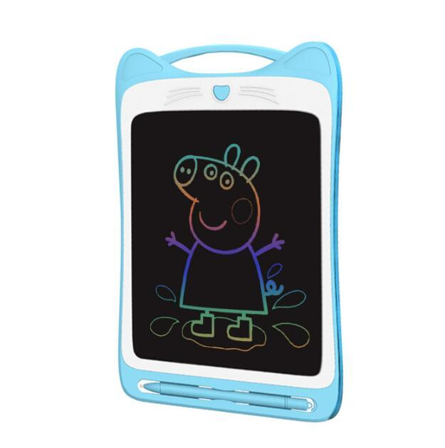 Colorful 8.5 12 inch Portable LCD Writing Tablet Erasable Electronic Notepad Drawing Graphics Board Memo Pad Stylus Pen/ CR2020 Battery
