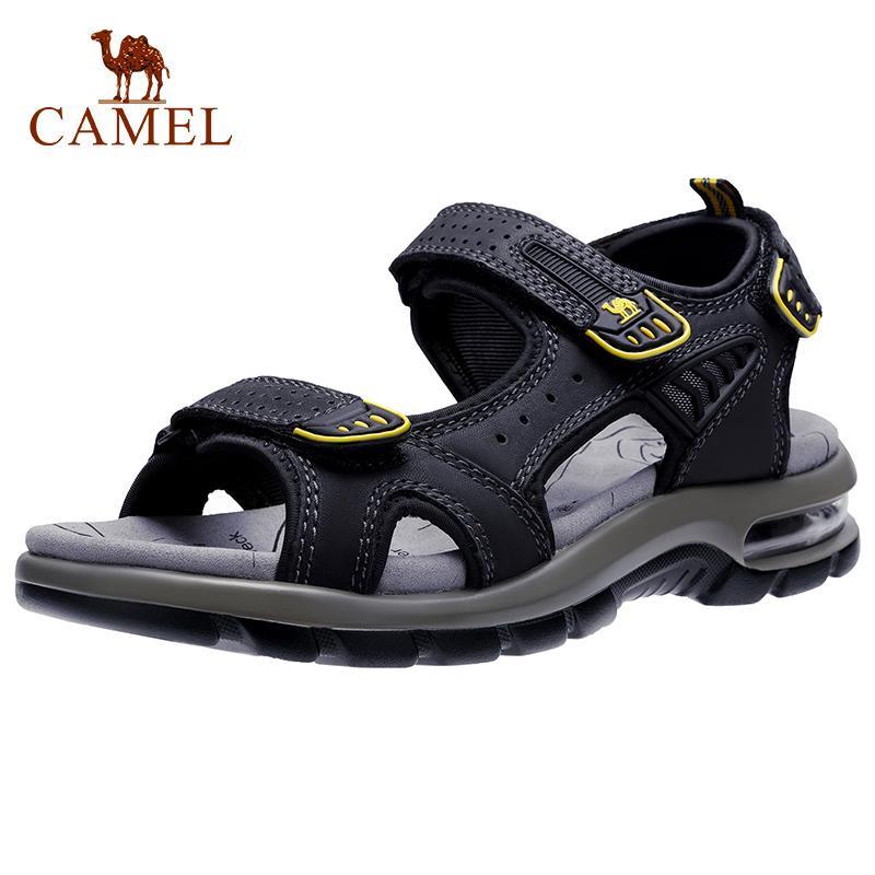 Deve Gerçek Deri Erkek Sandalet Yürüyüş Sandal Yaz Plaj Su Su geçirmez Açık Yürüyüş inek derisi Erkekler Ayakkabı CX200619