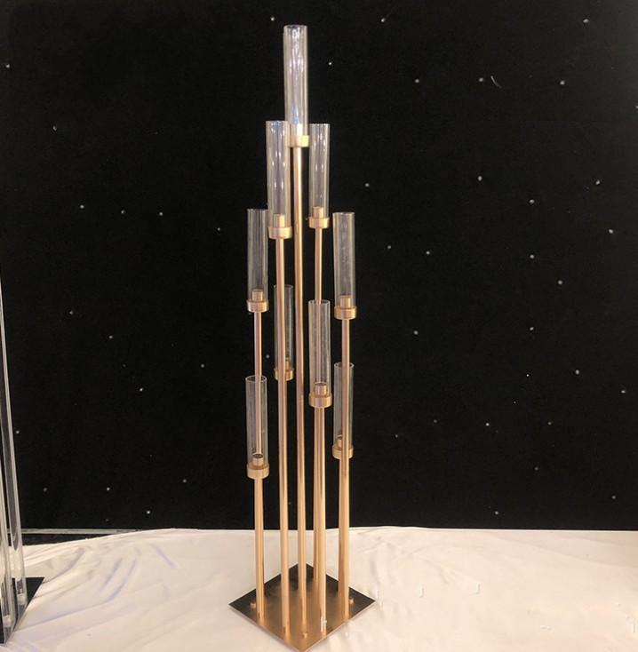 Металлические подсвечники вазы для цветов подсвечники свадебного стола центральные канделябры столб стоит партия декор дорога ведет LLFA