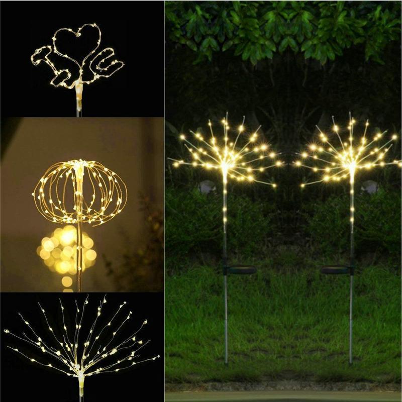 Garden Decor Stake Yard Led Outdoor Landscape Light Florals Solar Christmas X Mas Tree Light Decorative Garden Stakes
