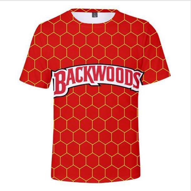 En gros - les plus récents Backwoods / Mode Femmes Hommes drôle 3D Creative Casual T-shirts Livraison gratuite R096