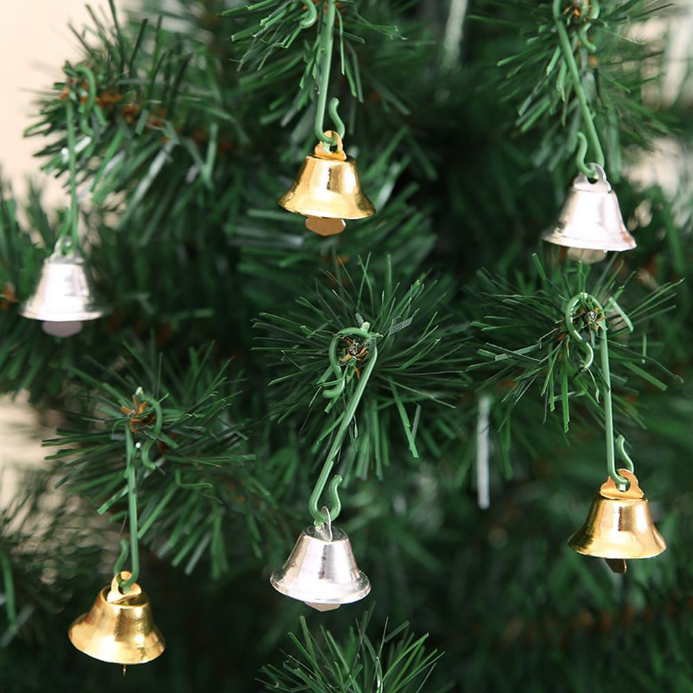 Рождественские колокола 20 шт. / компл. Золотой колокольчики мини 11 мм Рождественская елка висит декор ремесло Adornos де Навидад