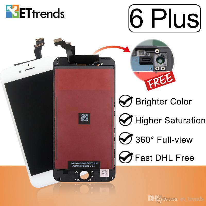 Exposição da qualidade de confiança para o iphone 6 mais o conjunto de tela do lcd Frame frio da imprensa nenhuma garantia vitalícia do pixel inoperante completamente no estoque