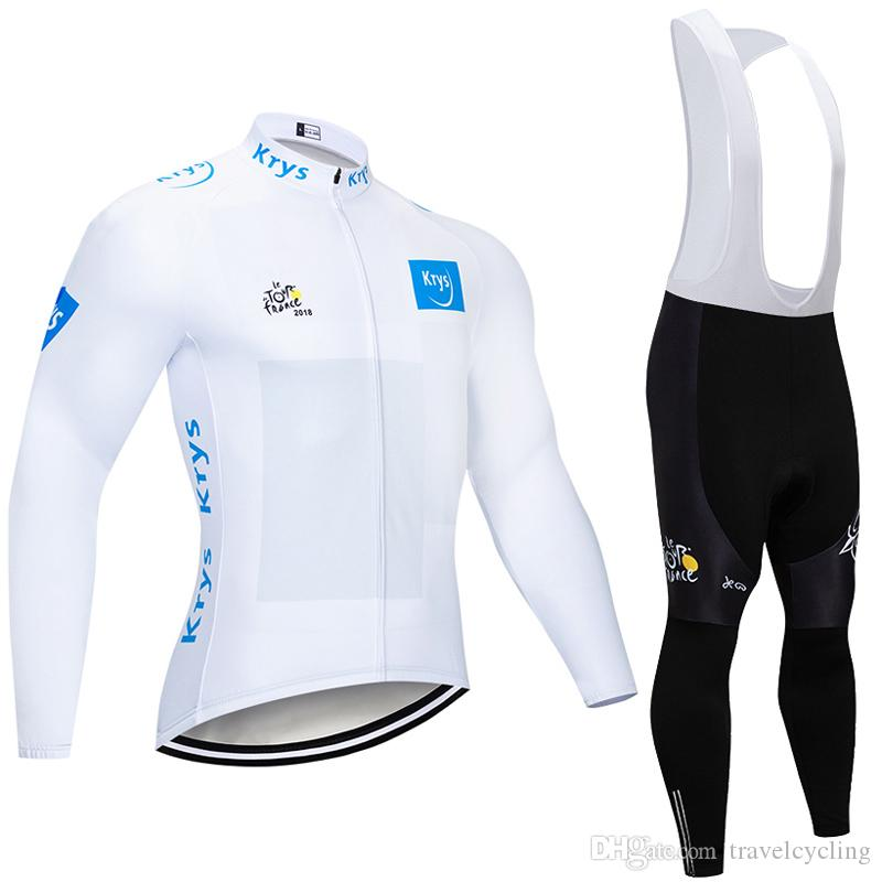 factory direct sale 2018 tour de france Cycling Clothing Bike sports uniform Mens Cycling Jersey Set long sleeve Road Bicycle Wear Y011003