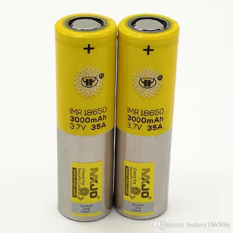 100 % en yüksek kalite MXJO IMR 35A 18650 pil 3000 mAh 3.7 V piller Şarjlı lityum piller Fedex ücretsiz kargo