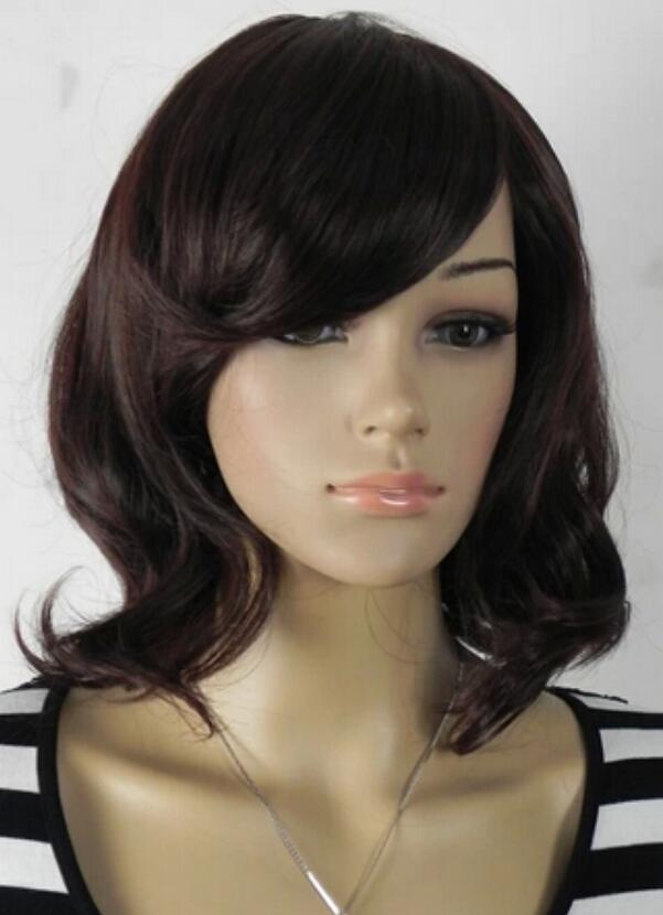 WIG free shipping Nrown short curly cosplay full wig