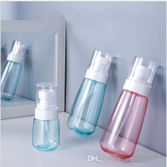 Botellas del aerosol portátil botella vacía de alcohol líquido 30ML 60ML 80ML cabeza 100ML plástico reciclado de la bomba del atomizador recargable Frasco de viaje
