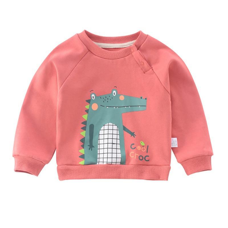 Nette Herbst-Kind-Baby-Jungen-Karikatur-Druck Sweatshirts beiläufige Kleinkind Bluse Langarm-Oberbekleidung