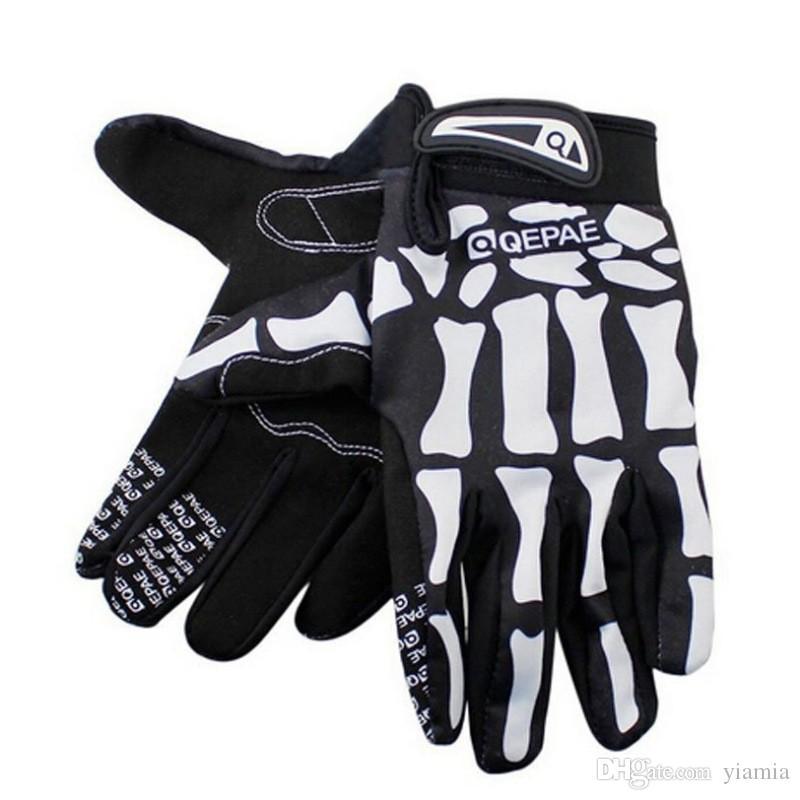 Cycling Otudoor Sport Racing Bicycle Motorcycle Ghost Microfiber,Spandex Skeleton Skull Bone Gloves