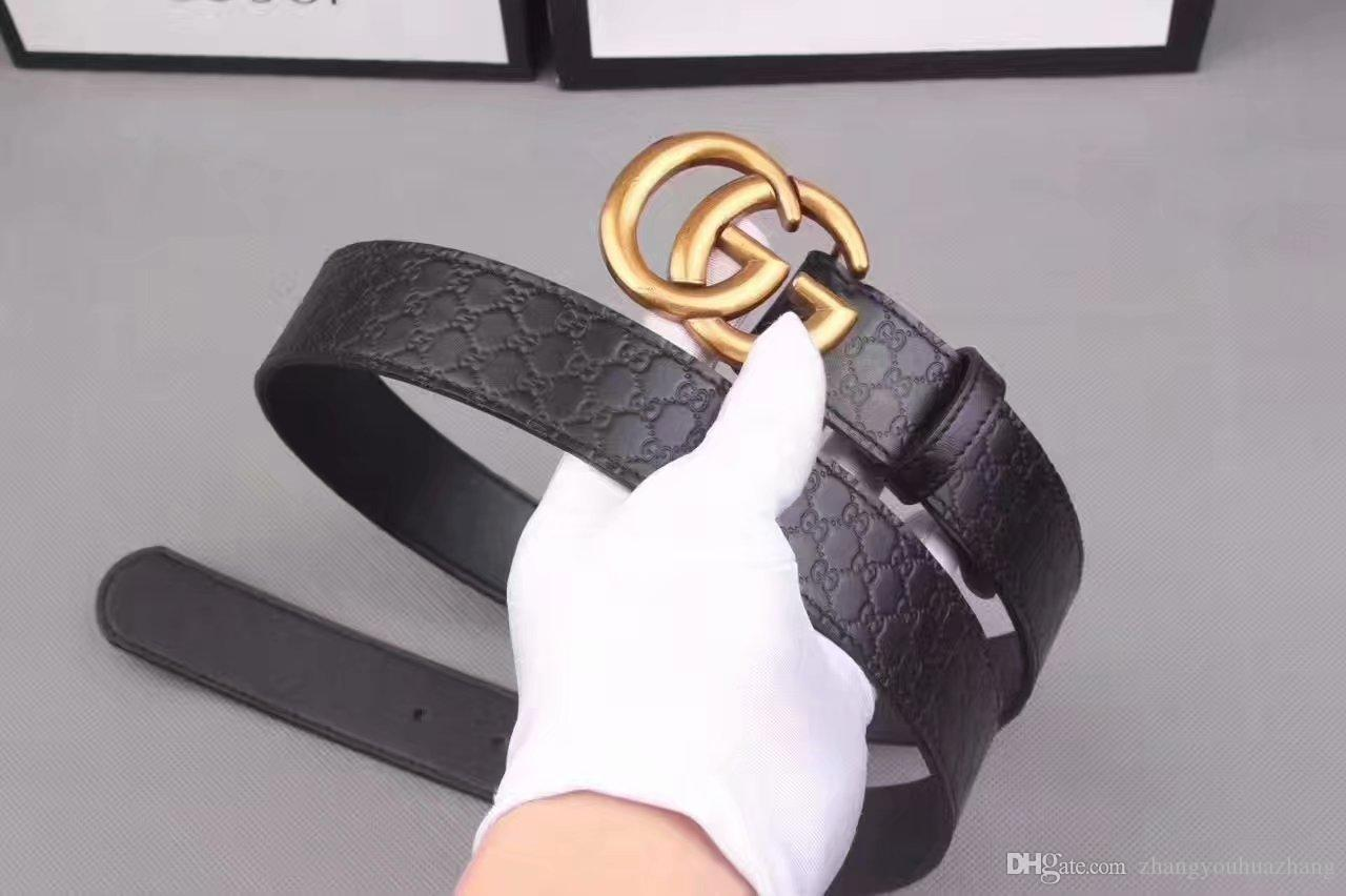 Hot 2018 clássico Preto de Luxo de Alta Qualidade ceinture Designer Cintos de Moda big bead buckle belt mens