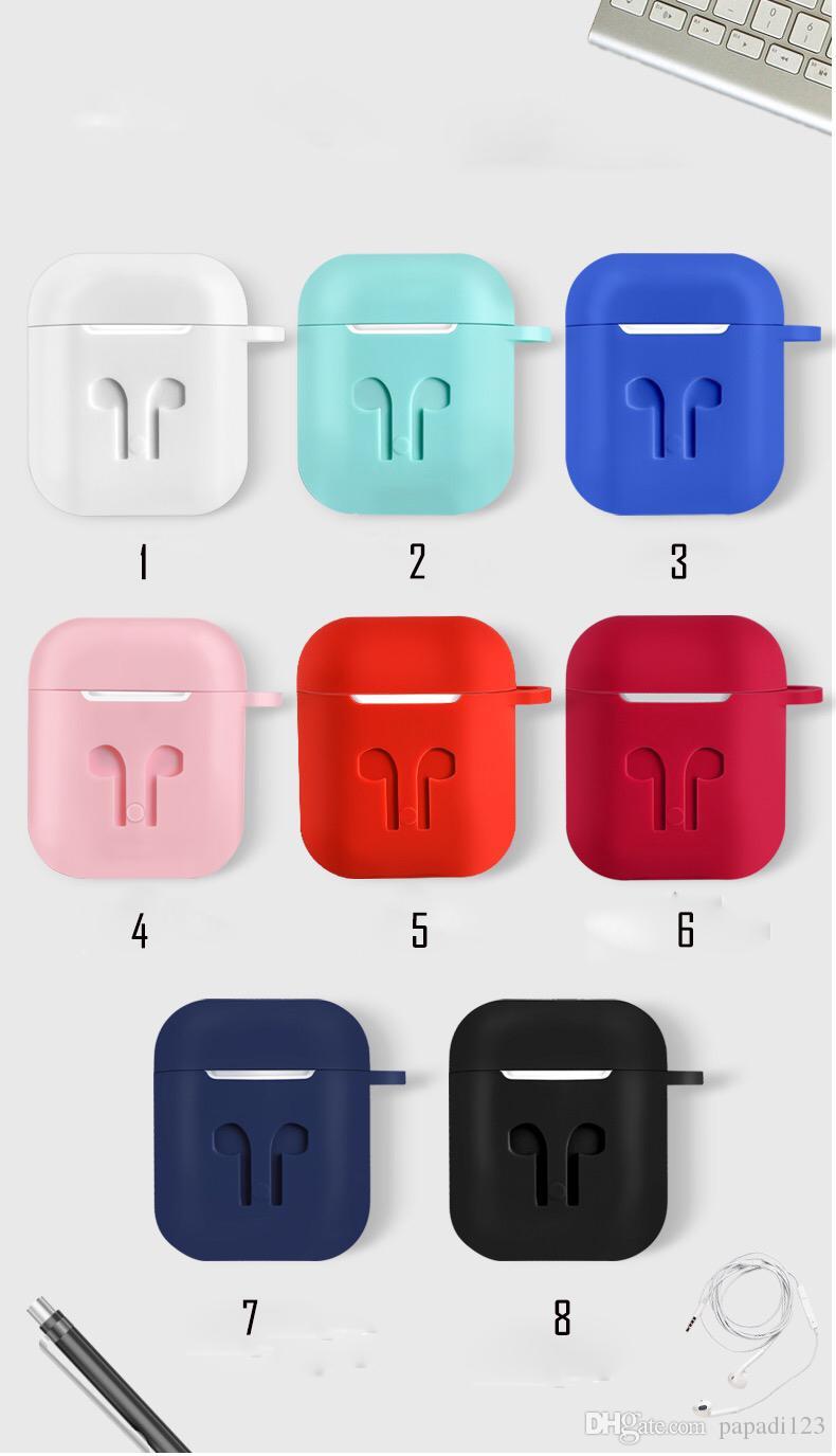Для Apple AirPods Защитный противоударный силиконовый чехол Dust Разъем розничный пакет мешок с анти-потерянный ремешок для Iphone Bluetooth наушники