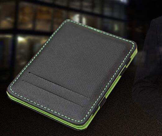 PU creative magic wallet flip card holder business card case coin purse men wallet luxury wallet clip