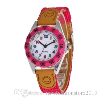 New Style Cute Clock Quartz Watch Casual Children Watch Boy Girl Cartoon Students Nylon Fashion Watch Gifts