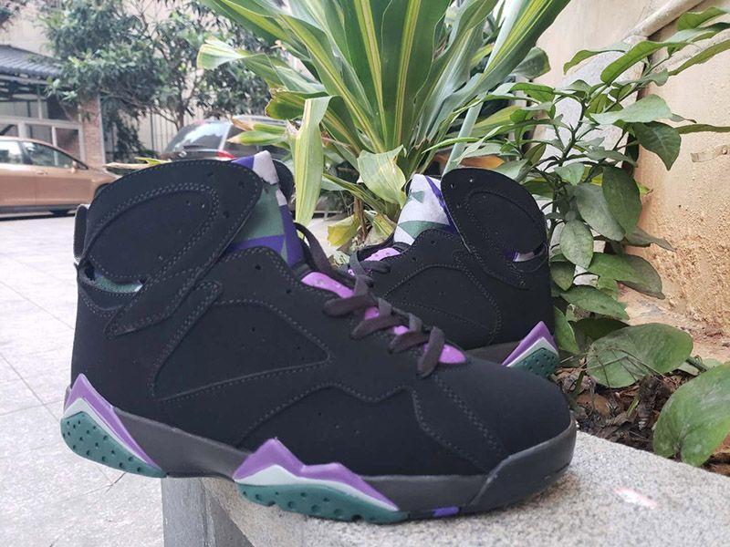7 Ray Allen Erkek Basketbol Ayakkabı Siyah Azılı Mor Mens Tasarımcısı Sneakers 304775-053 1996 taslağın 23 yıldönümünü kutlamak