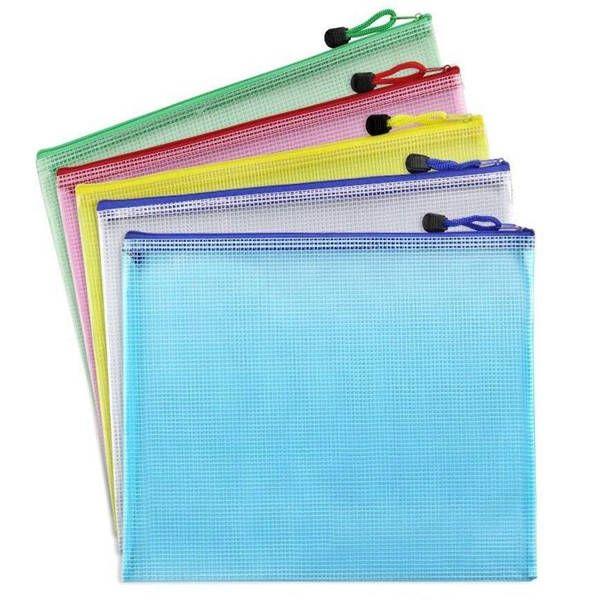 A3 / A4 / A5 / A6 / B4 / B5 / B6 Sac en PVC transparent Grille de documents papier à lettres Pochette de dépôt Produits Sac