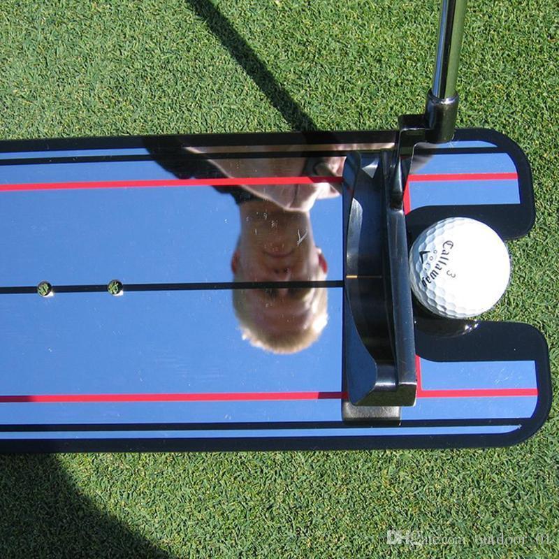 Mirror Golf accessories Training Swing Coach straight Practice net putting mat lineup Swing eye line trainer