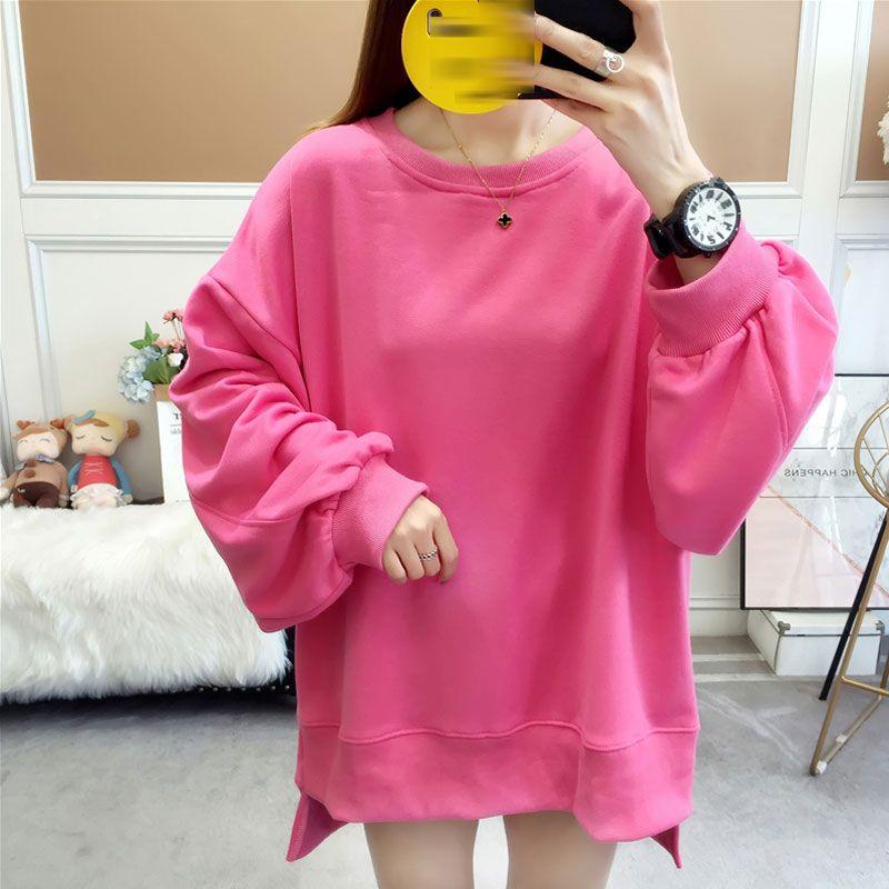 2020 Frühlings-Stickerei Female Sweatshirt für Frauen Top-Pullover-Hülsen-lose große Größen-Sweatshirts Bekleidung New