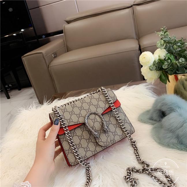2020 INSTOCK أعلى جودة أزياء المرأة تصميم حقائب اليد محافظ جلدية سلسلة حقيبة CROSSBODY حقائب الكتف رسول حقيبة