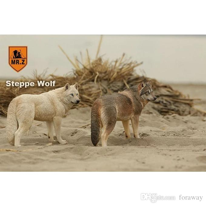 Z 1//6  004 Set  Steppe Wolf Animal 20 cm lenght,In stock Mr