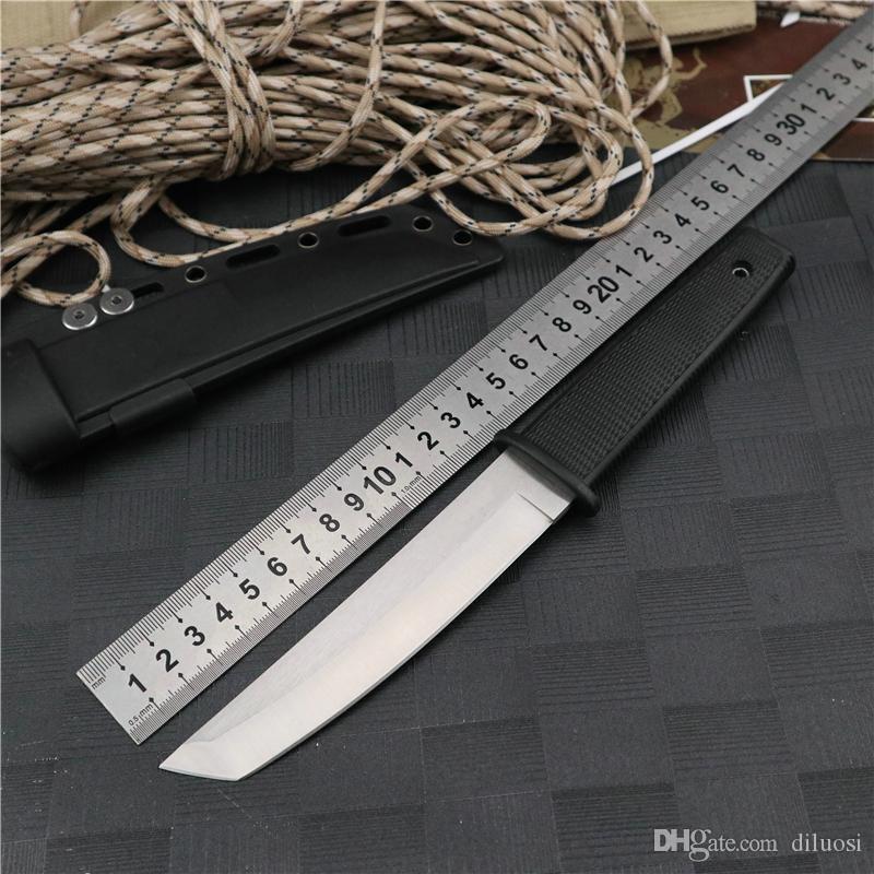 hojas de cuchillo fijos dagas Cuchillos de caza de supervivencia cuchillo de uso al aire libre EDC táctico cuchillo pesca que acampa de la autodefensa del ABS Senderismo