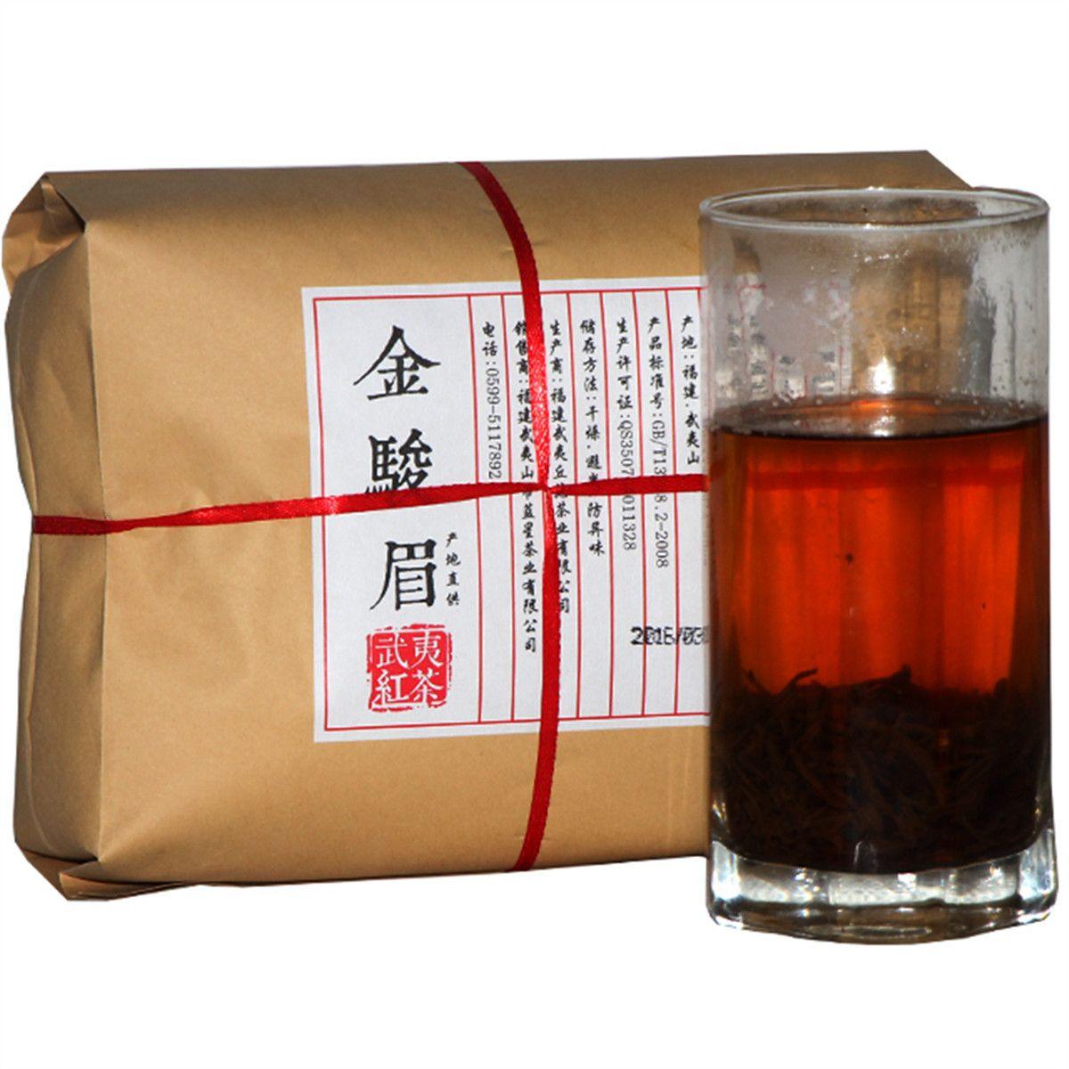 Promoción 500g Negro chino orgánico Té Premium de oro de la ceja Wuyi Kim Chun Mei Té Rojo Cuidado de la Salud Nueva cocido té verde de alimentos