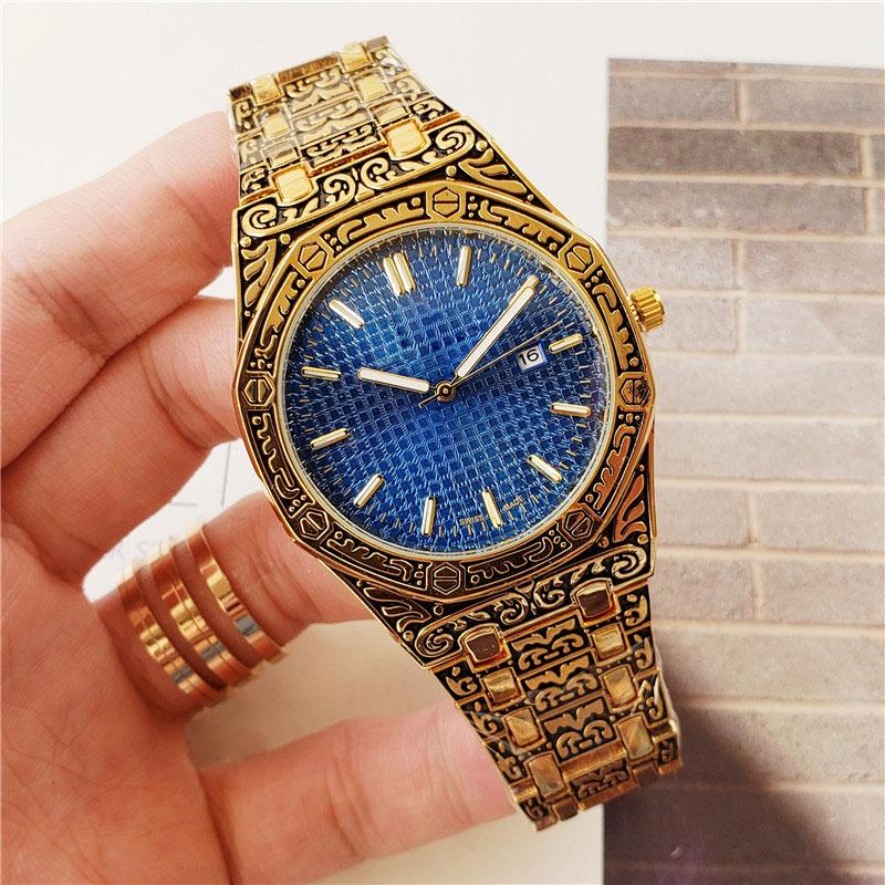 luxo U1 fábrica dos homens automática de quartzo relógios estilo clássico 40 milímetros cinta de aço inoxidável relógio de pulso de qualidade superior homens carvalho masculino