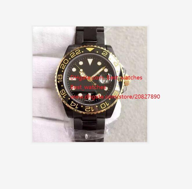 Top High quality Sapphire Stainless Steel PVD 116710 Black blue Dial with Ceramic Bezel 40mm Automatic Mechanical Mens Men's Watch Watches
