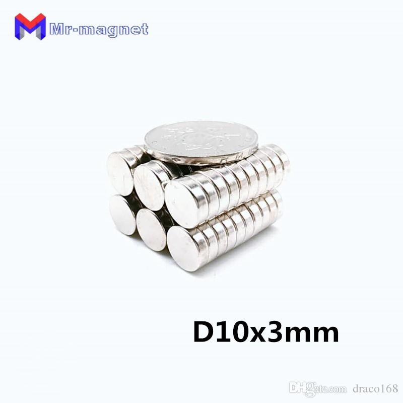 Real Imanes De Nevera Refrigerator Magnets 50pcs Ndfeb Neodymium Disc Magnets Dia 10mm X 3mm N35 Super Powerful Rare Earth 10*3 Magnet