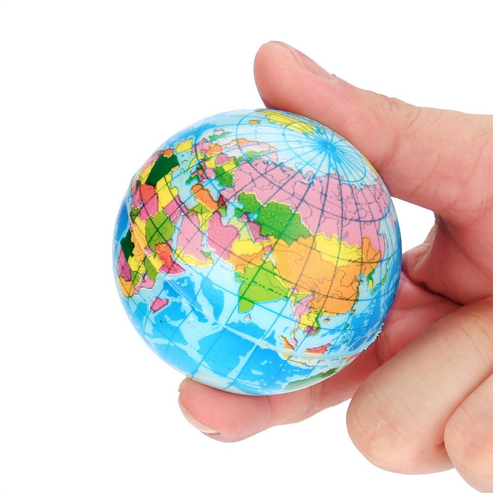 Stress Relief Weltkarte Schaumstoffball Atlas Globe Palm Kugel Planet Erde-Kugel-lustiges Spielzeug für Kinder Kinder zu Hause Release Stress