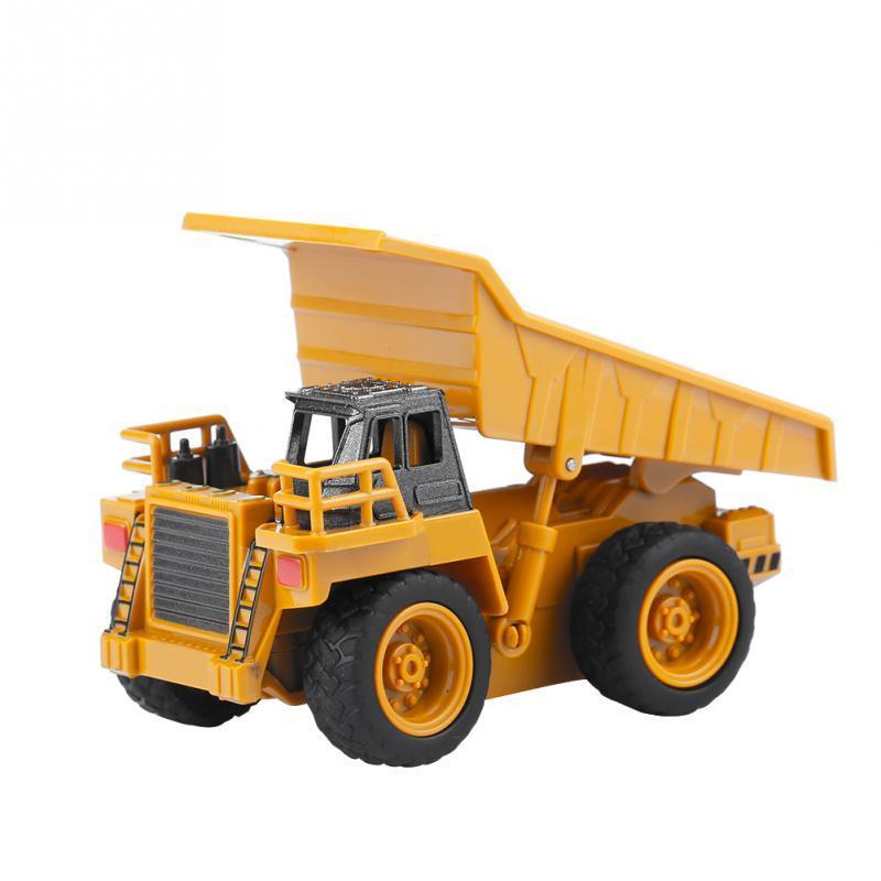 Sıcak Satış 1/64 RC Ekskavatör Kamyon Digger Oyuncak Ekskavatör / Damping Araba / Vinç Mini İnşaat Araç Oyuncak İçin Çocuk Çocuk Hediye