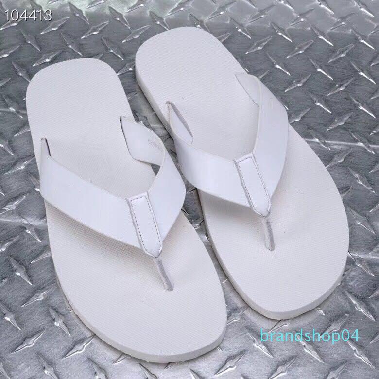2019 moda erkek terlik plaj çevirme Terlikler Spor Terlik Boyutu 38-45 Plajdaki Makosenler beyaz kaymaya flop