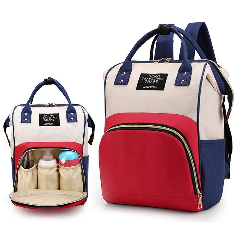 KAVKAS الأزياء مومياء الأمومة الحفاض حقيبة سعة كبيرة الطفل حقيبة السفر حقيبة الظهر انن التمريض للرعاية الطفل حقيبة الظهر
