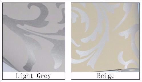 Im europäischen Stil Vliestapete klassische Wandpapierrolle violett / grau wallcovering Luxus Tapete Blumen papel de parede V1