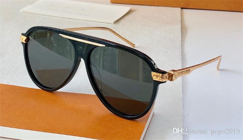 مصمم أزياء جديد رجل إمرأة نظارات شمس 1264 أرجل الطيار لوحة الإطار المعدني حماية الهواء الطلق الطليعية النظارات الزخرفية الشعبية