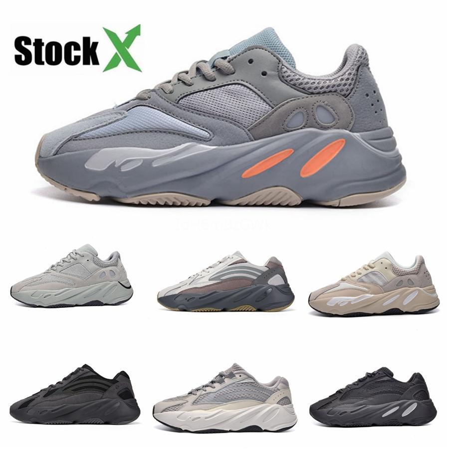 Com Box Novas 700 do corredor da onda malva Inércia Mens Sapatos Kanye West Designer Shoes Homens Mulheres 700 V2 estáticos Esportes Seankers Tamanho 36-450D52 # DSK122